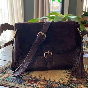 Beautiful mahogany Brampton London purse.